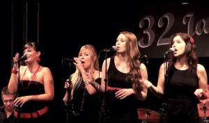 The Ladybirds beim Auftritt zum Jazzclub-Jubiläum an der HESO.