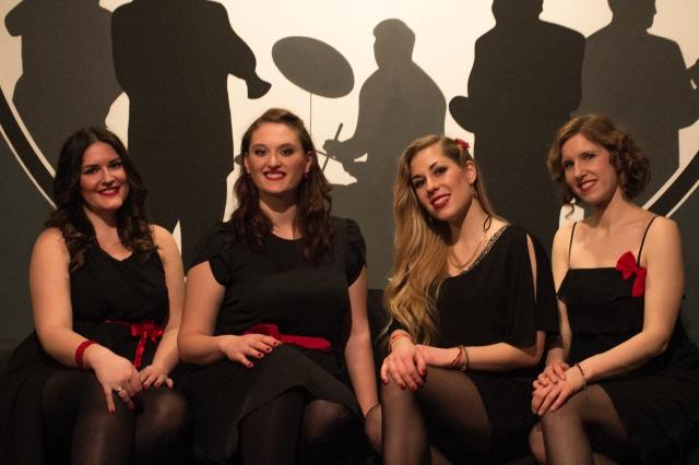 Spontaner Schnappschuss mit The Ladybirds im Jazztone Lörrach
